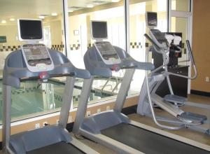 The fitness center and/or fitness facilities at Hilton Garden Inn Addison
