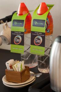 Coffee and tea-making facilities at Grandmas Plus Hotel Seminyak