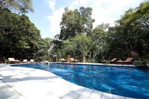 The swimming pool at or near Hotel Jungle Lodge Tikal