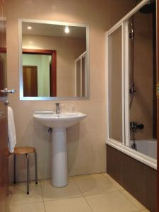 A bathroom at Hostal Aeropuerto