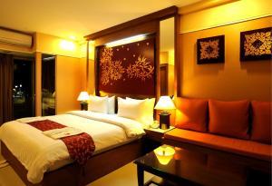 Ein Zimmer in der Unterkunft Mariya Boutique Hotel At Suvarnabhumi Airport
