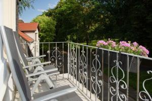 Ein Balkon oder eine Terrasse in der Unterkunft Apart Hotel Paradies