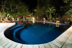 The swimming pool at or near Jungle Lodge Tikal Hostal