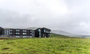 Jardin de l'établissement Fosshotel Glacier Lagoon