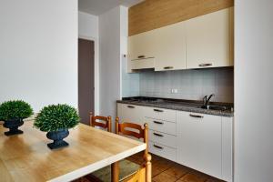 Kuchyň nebo kuchyňský kout v ubytování Residence Columbia