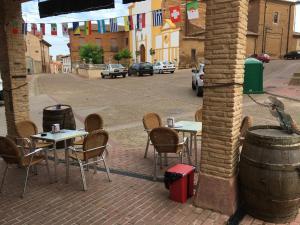 A porch or other outdoor area at Hostal La Bastide du Chemin