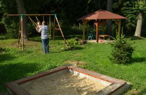Zahrada ubytování Pension Skalka