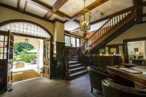 The lounge or bar area at Chateau La Chaire