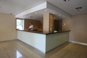 The lobby or reception area at Hotel Joya