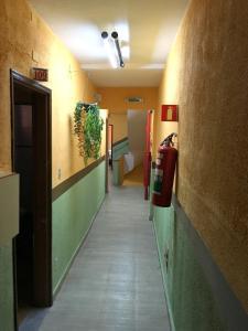 The lobby or reception area at hotel Economico da SE