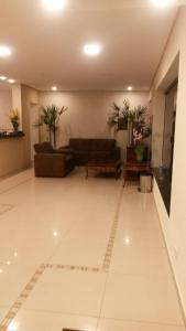 The lobby or reception area at Hotel Lider