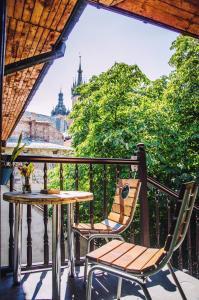 Balcon ou terrasse dans l'établissement Hostel u Kmity