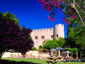 A garden outside Pousada Castelo de Alvito