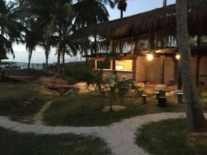 A porch or other outdoor area at Lagoa dos Coqueiros