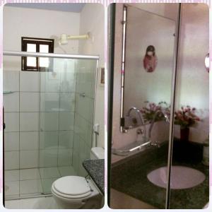 Um banheiro em Pousada Vila Santapipa
