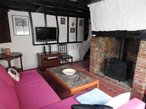 The lounge or bar area at St Faith Street