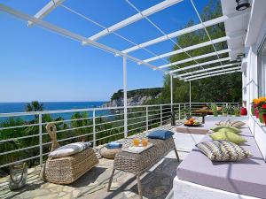 A patio or other outdoor area at Beachfront Villas on Crete - Pelagaios