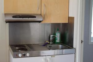 A kitchen or kitchenette at Volsdalen Camping