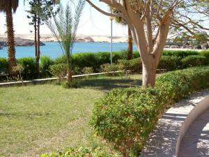 A garden outside Nefertari Hotel Abu Simble