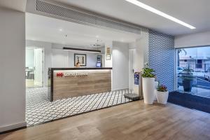 De lobby of receptie bij Apartamentos Hg Lomo Blanco