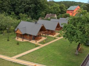 Widok z lotu ptaka na obiekt Ośrodek Wczasowy Łowiczanka