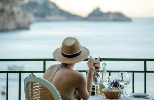 A balcony or terrace at Hotel Onda Verde