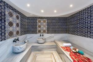 A bathroom at Zagreb Hotel