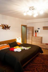 Posteľ alebo postele v izbe v ubytovaní Penzion pod Brezinou