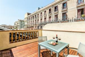 A balcony or terrace at Exe Ramblas Boquería