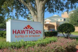 A garden outside Hawthorn Suites by Wyndham Lake Buena Vista, a staySky Hotel & Resort