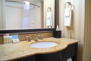A bathroom at Hampton Inn Altoona