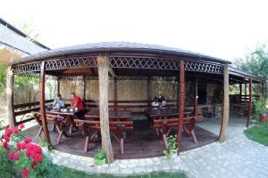 Un patio sau altă zonă în aer liber la Pensiunea Anastasia