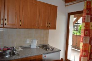 Kuchyň nebo kuchyňský kout v ubytování Apartmány U Vaců