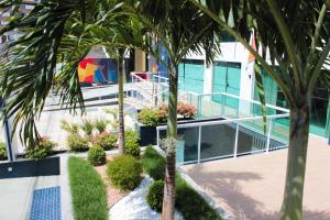 Патио или другая зона на открытом воздухе в Aquarena Hotel