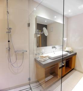 A bathroom at Forellenhof