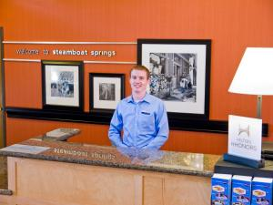 The lobby or reception area at Hampton Inn & Suites Steamboat Springs