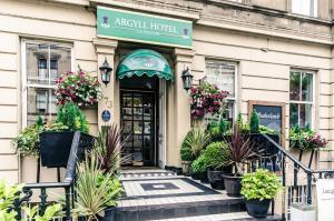 The facade or entrance of Argyll Hotel