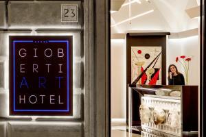 The lobby or reception area at Gioberti Art Hotel