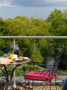 A balcony or terrace at The Fitzwilliam Hotel