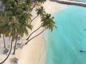 Letecký snímek ubytování Kaani Beach Hotel