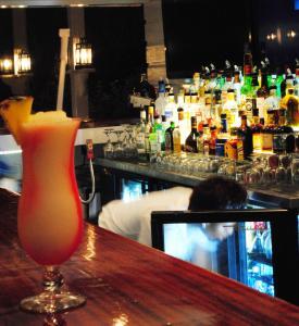 The lounge or bar area at The Hamilton Beach Villas & Spa