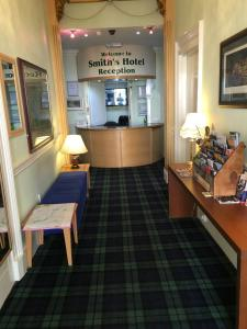 The lobby or reception area at Smiths Hotel