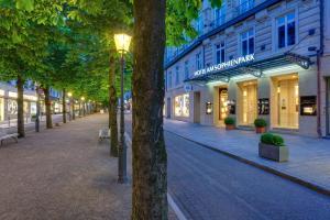 Eine Fassade oder ein Eingang zu Hotel am Sophienpark