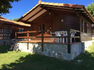 A porch or other outdoor area at Bungalows Playa de Oyambre