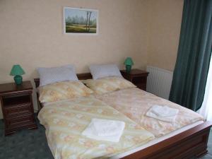 A bed or beds in a room at Dedesi Vendégház Zalalövő