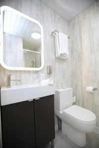 A bathroom at Ambassador Hotel