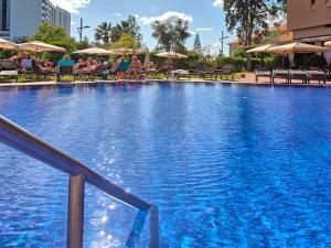 The swimming pool at or near Dom Pedro Marina