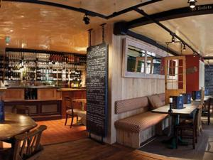 The lounge or bar area at The Cross Keys