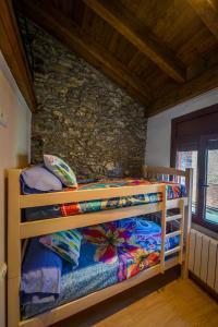 A bunk bed or bunk beds in a room at Apartaments Cal Xic
