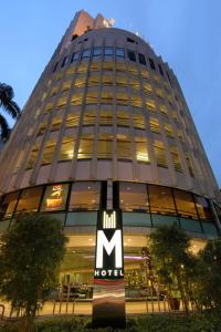 The facade or entrance of M Hotel Singapore